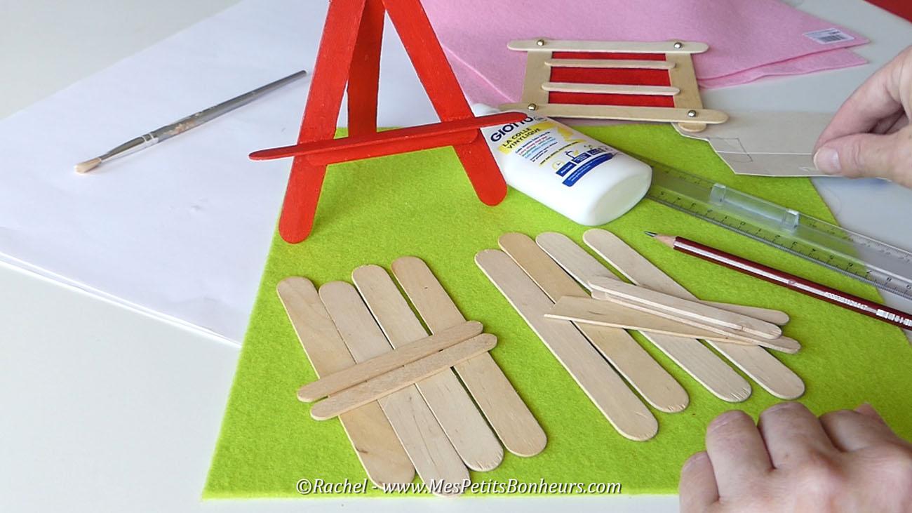 Bricolage en b tonnets cadre et chevalet pour boucles d - Fabriquer un chevalet pour couper du bois ...