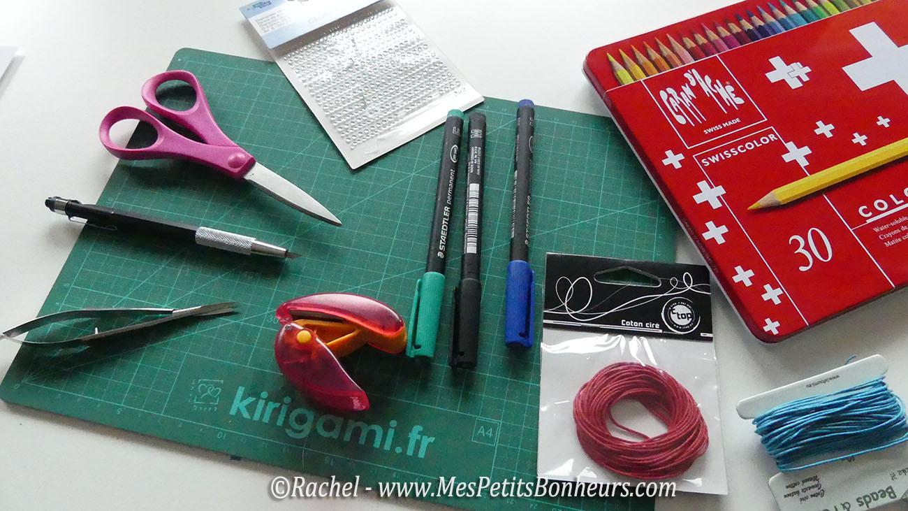 materiel pour colorier et découper
