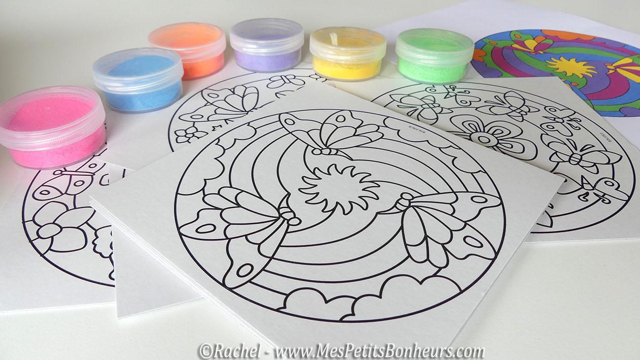 sable color et mandala - Sable Colore