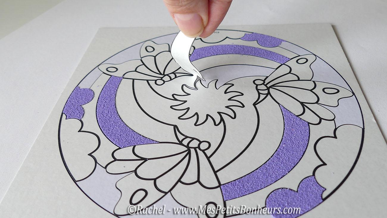 sable color sur tableau autocollant - Sable Colore