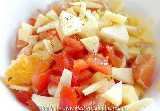 salade colorée recette light
