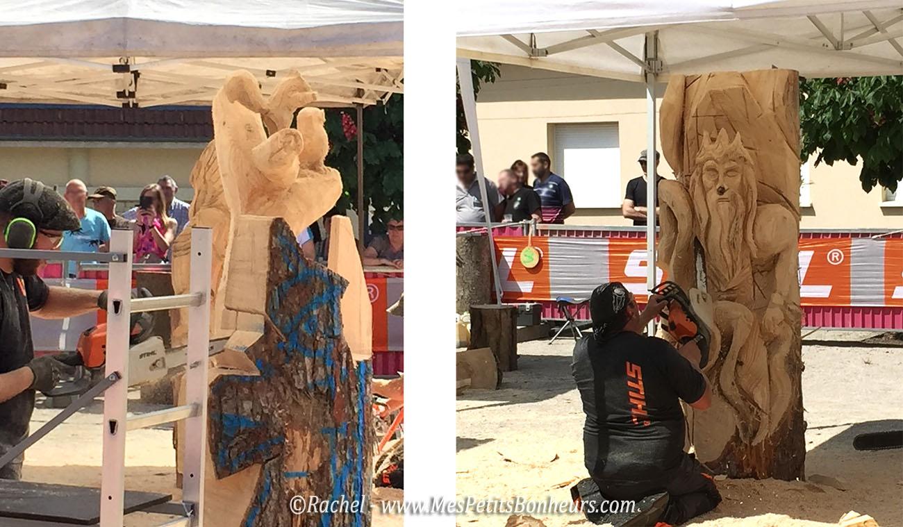Sculpture Sur Bois La Tron Onneuse Une Comp Tition