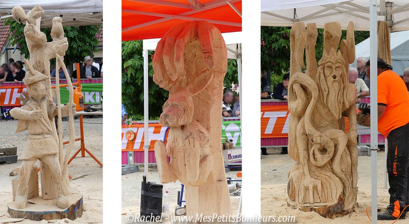 sculptures robin des bois lapin diable
