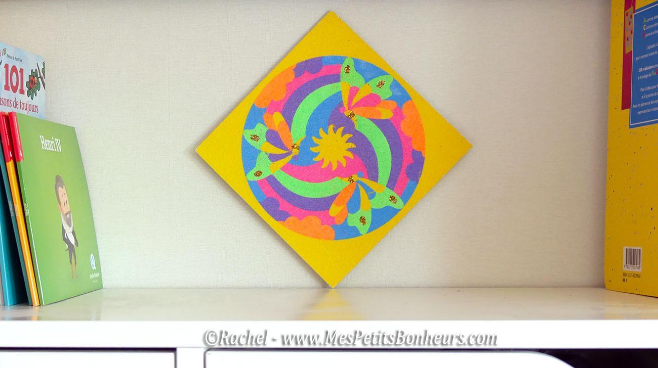 tableau sand mandala sable color - Dessin Sable Color