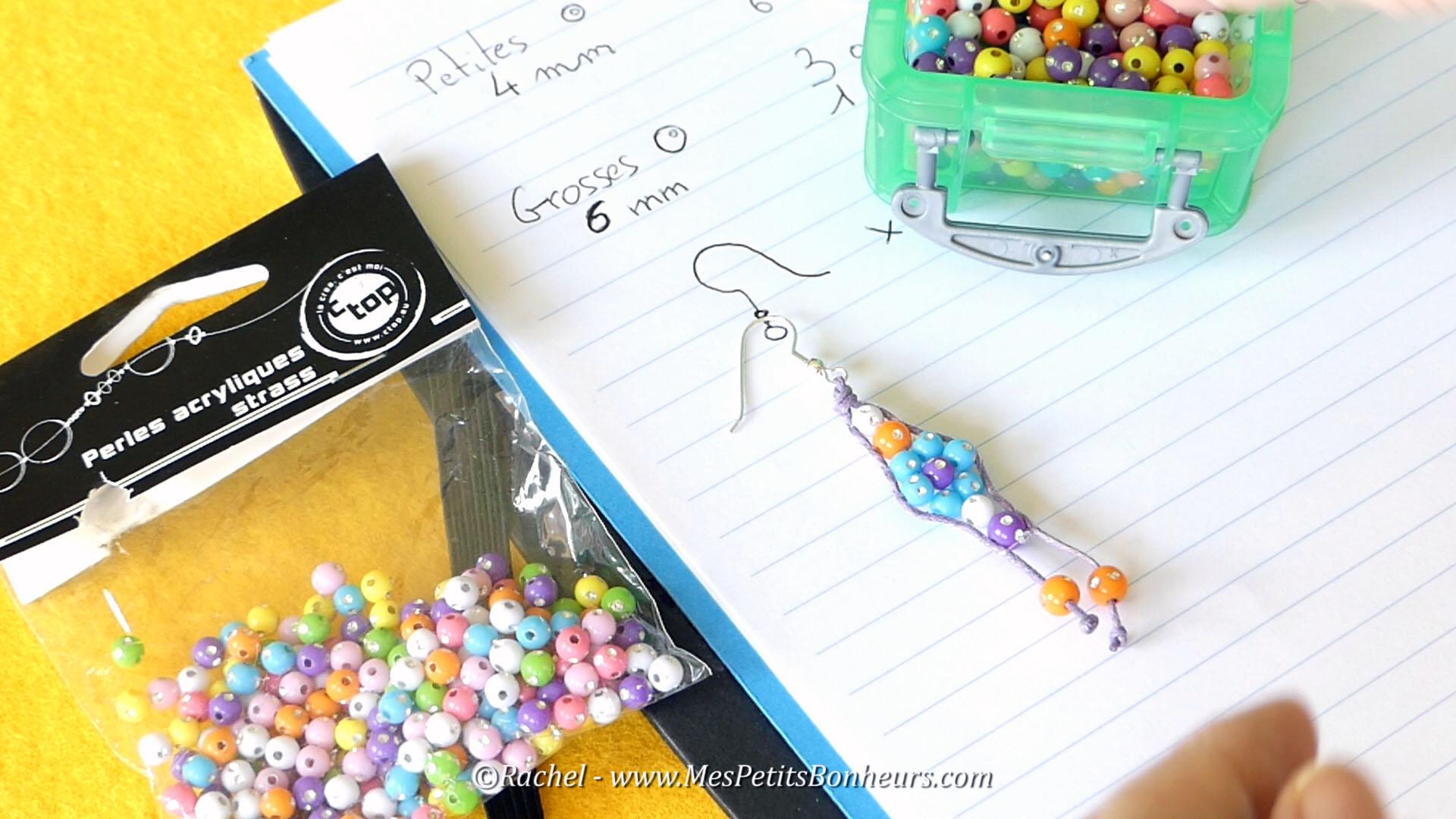 Tuto vid o boucles d 39 oreilles fleurs en perles avec le wrapit loom - Tuto boucle d oreille perle ...