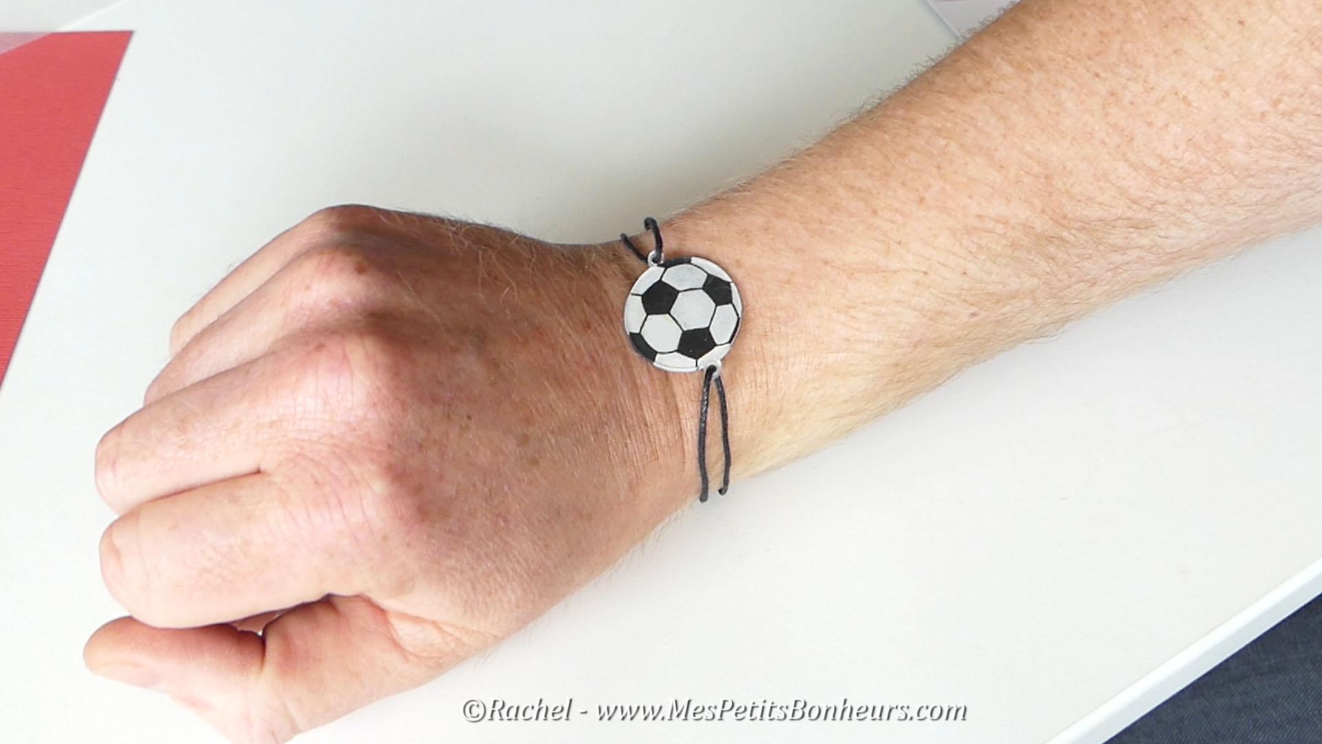 bracelet foot cadeau fete des peres bricolage plastique fou