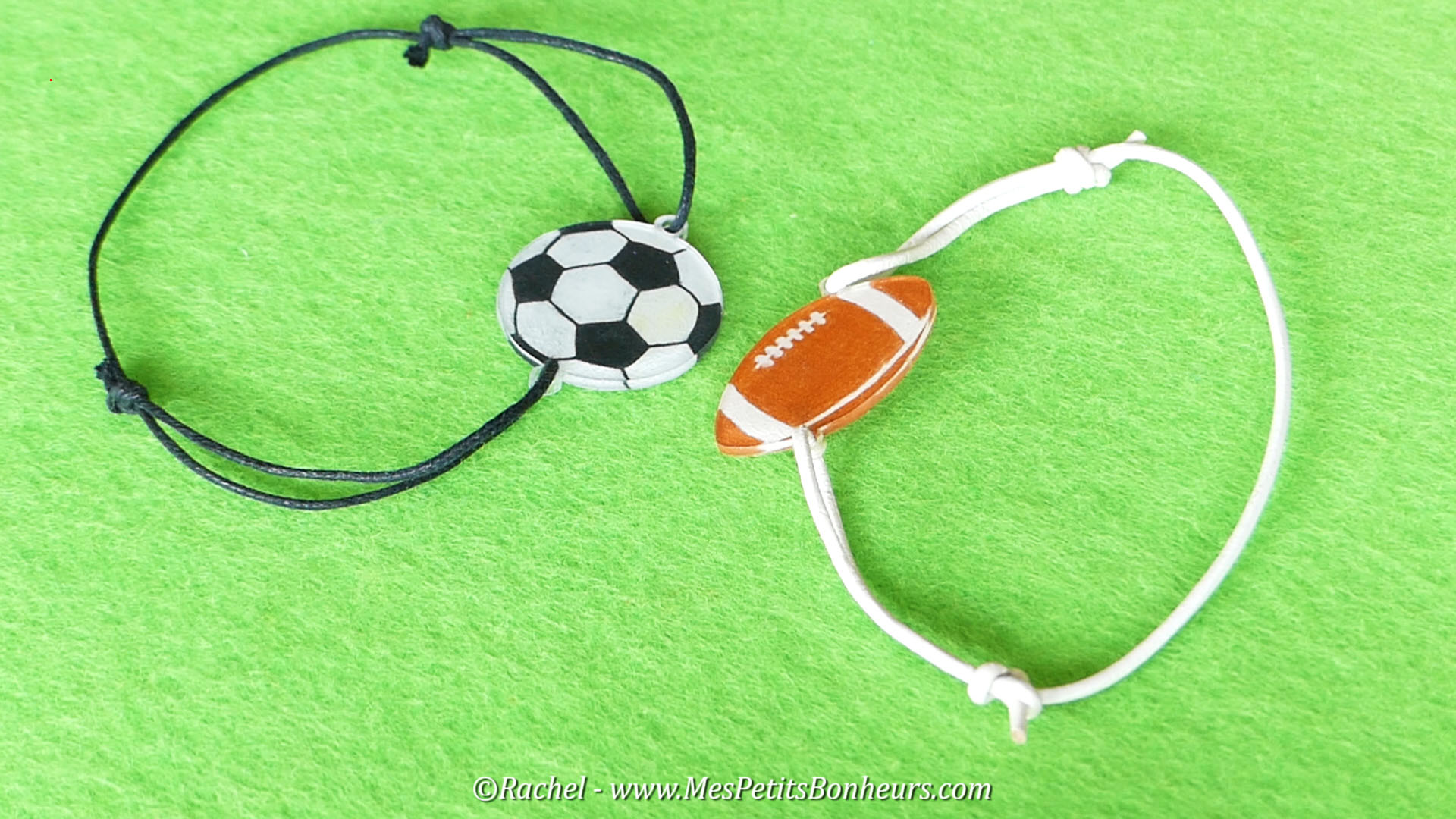 bracelets sport modeles foot rugby bricolage