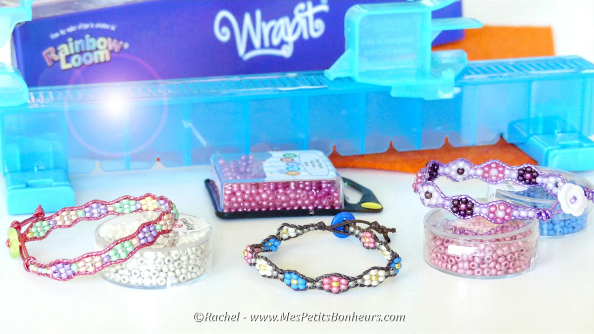 bracelets wrap fleurs wrapit metier a tisser rainbow loom