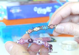bracelets wrap perles fleurs metier a tisser rainbow loom