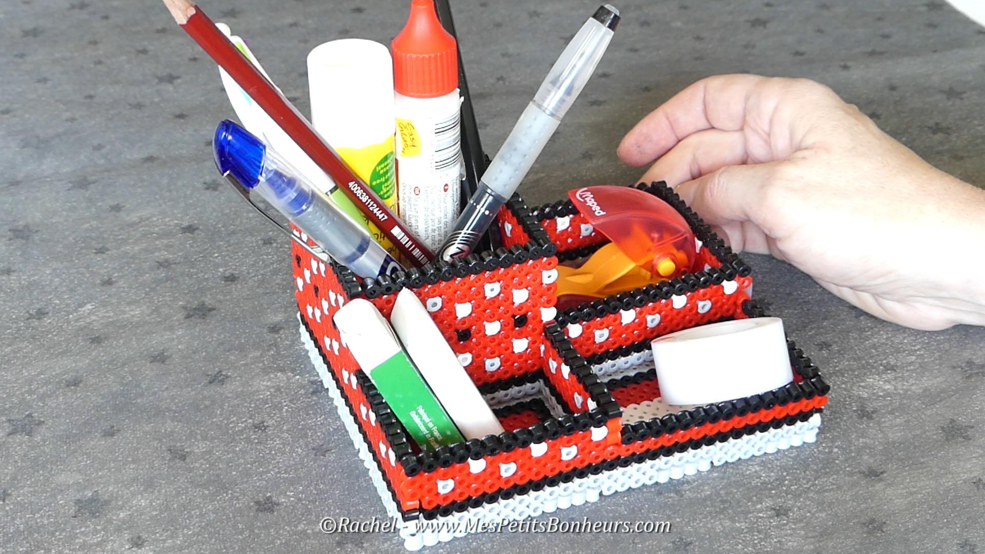cadeau fete des peres a fabriquer perles hama 3d rangement bureau