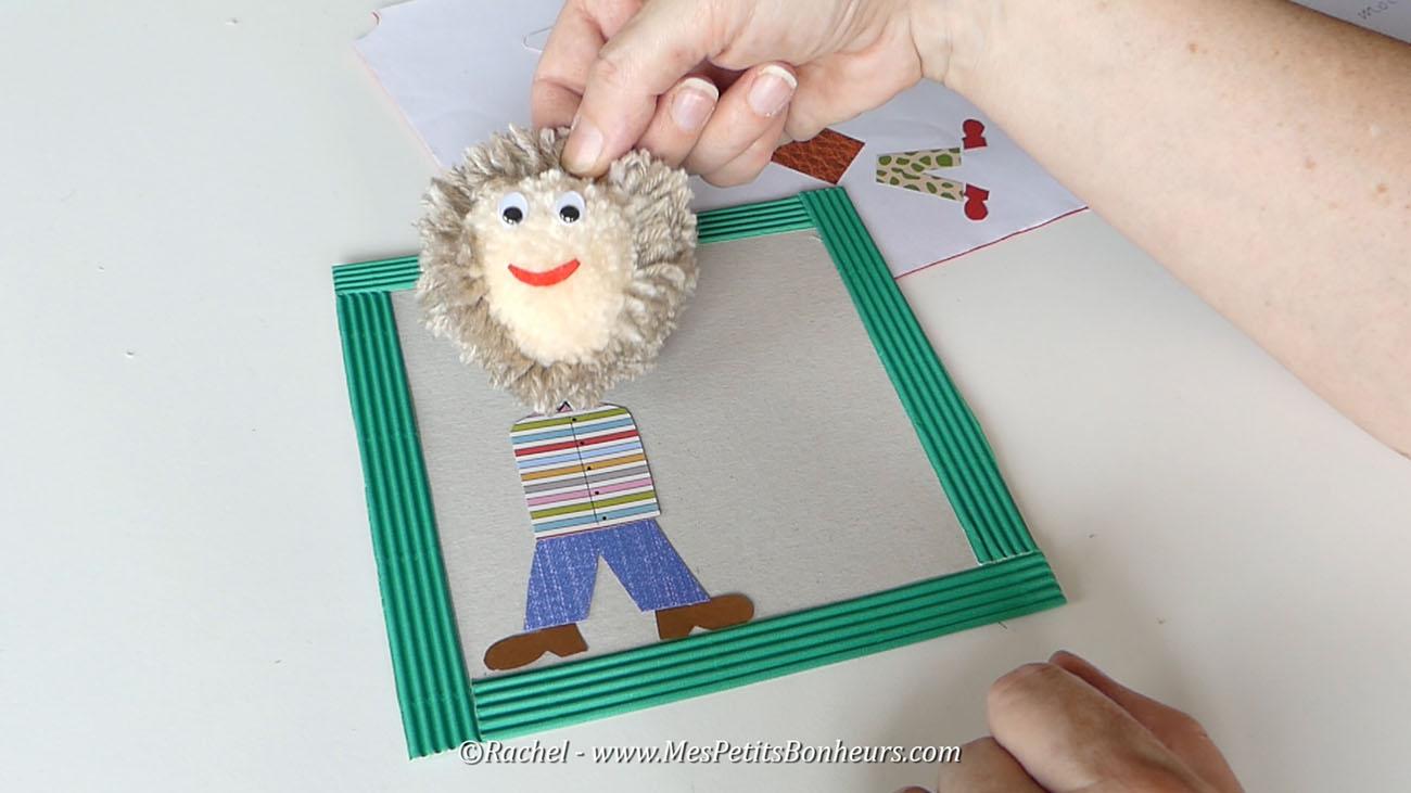 cadre fete des peres activité manuelle enfant
