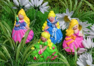 moulage princesses platre peinture activité manuelle enfant