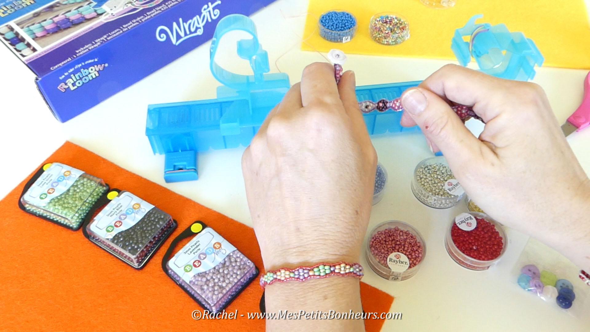 perles beads et rayher bracelet wrap