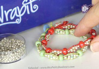 wrapit loom bracelets perles deux tailles modele diy tuto