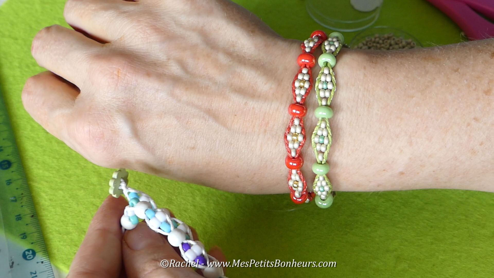 wrapit loom bracelets wrap it modele tuto video perles tissage