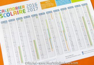 calendrier scolaire vacances 2016 2017