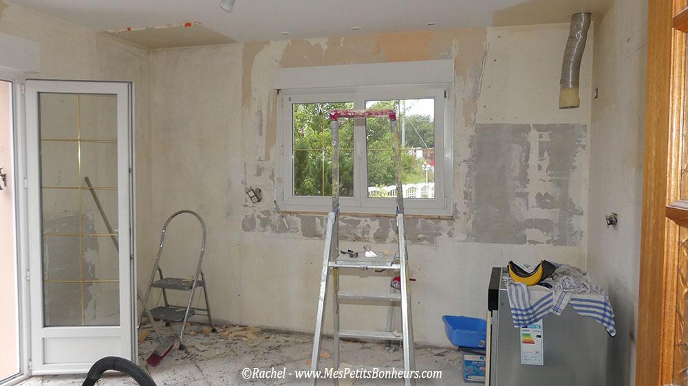 R novation de la maison photos de nos d molitions avant for Ouvrir la cuisine sur le salon