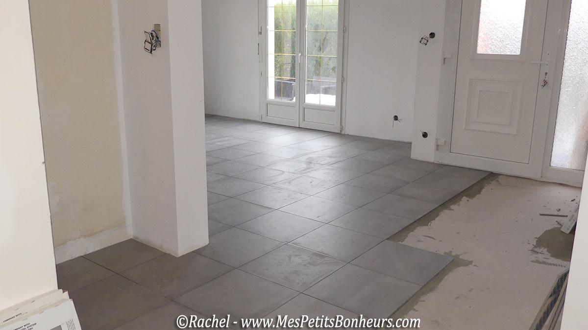 Travaux de r novation le d but de la fin escalier for Poser du beton cire sur du carrelage