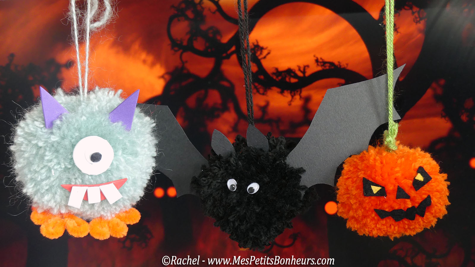 halloween-pom-pom-monsters