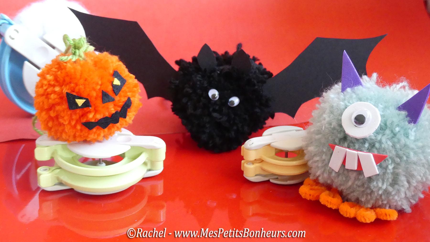 halloween en pompons bricolage enfants facile et amusant. Black Bedroom Furniture Sets. Home Design Ideas