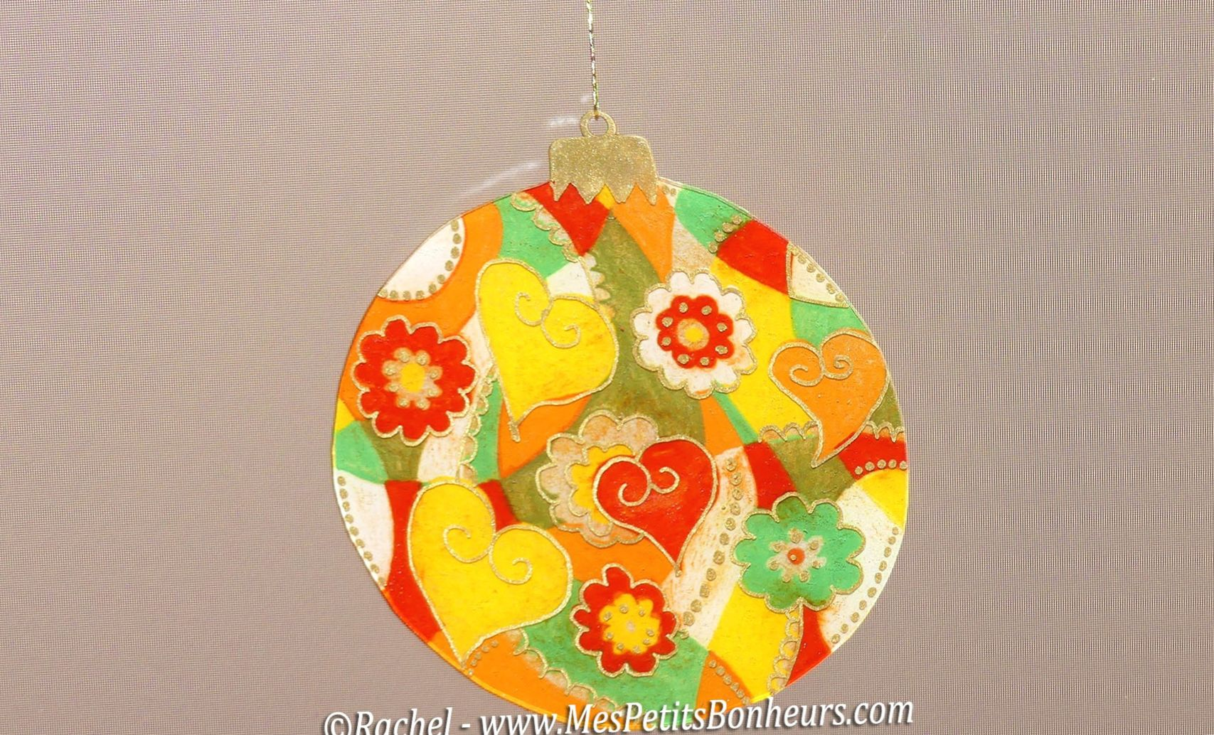 Boule Papier De Decoration De Noel