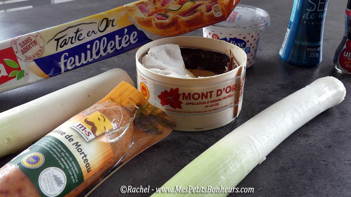 recette ma tarte franc comtoise morteau mont d or poireaux