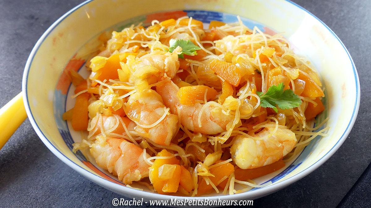 recette wok facile vermicelles de riz aux crevettes. Black Bedroom Furniture Sets. Home Design Ideas