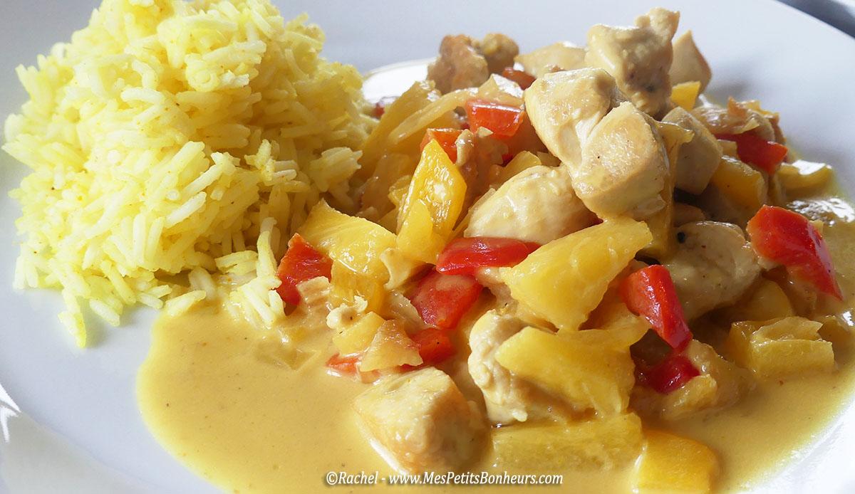 recette wok inratable poulet lait de coco ananas et poivrons. Black Bedroom Furniture Sets. Home Design Ideas