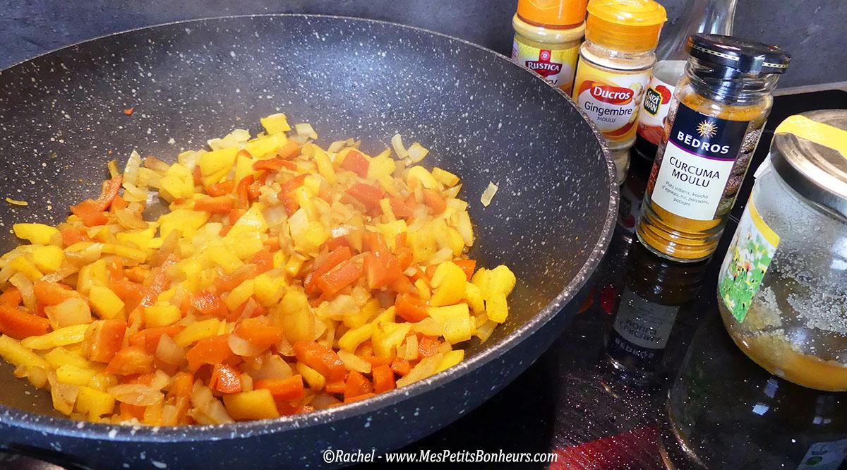 Recette wok inratable poulet lait de coco ananas et poivrons - Gramme de riz par personne ...