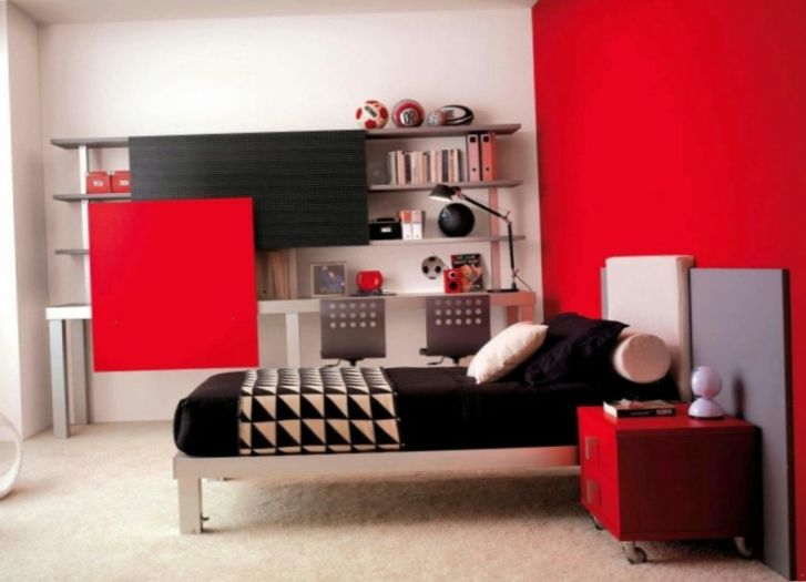 d co chambre ado lumineuse pur e et color e pour tim. Black Bedroom Furniture Sets. Home Design Ideas