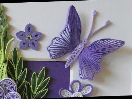 Modèle de Papillon en Quilling - Gabarit et Tuto vidéo