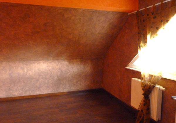 Travaux d co chambre grand ado chic et fonctionnelle en brun et blanc laqu - Chambre orange marron ...