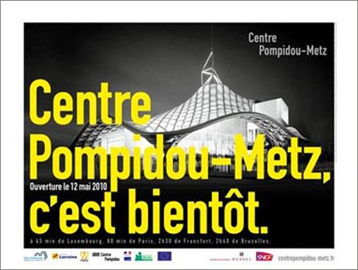 affiche ouverture centre pompidou metz