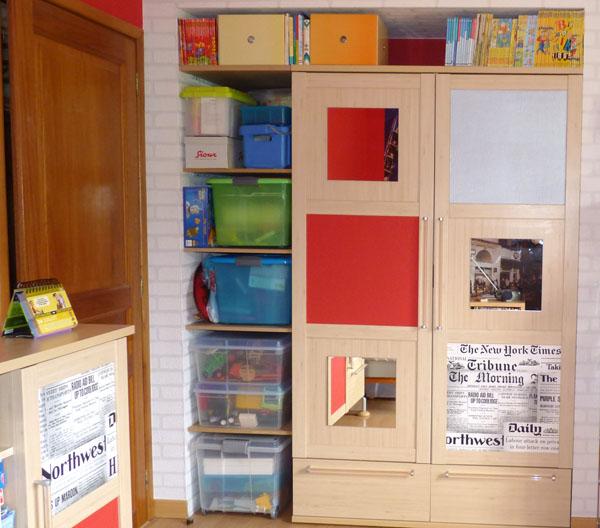 Placard de rangement pour enfant pictures to pin on pinterest - Optimiser espace petite chambre ...