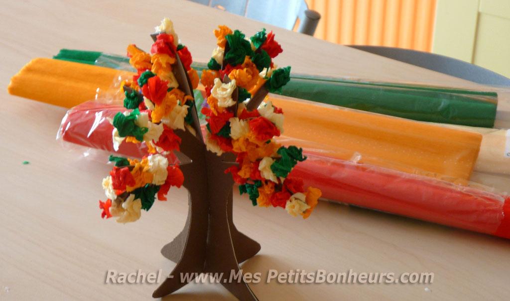Gut gemocht Arbre d'automne pour un bricolage en 3D en papier et crépon HN24