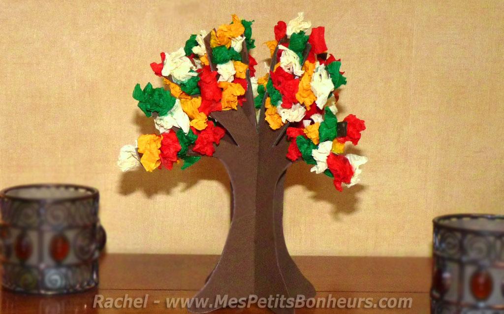 arbre d'automne bricolage decoupage enfant