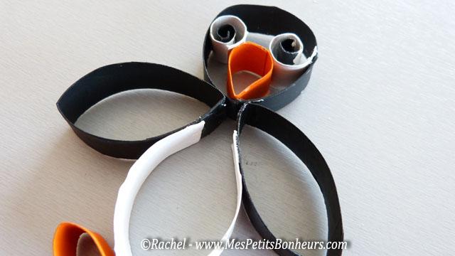 assemblage corps du pingouin à la tête