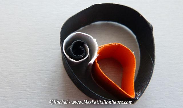assemblage spirale oeil avec deux points de colle