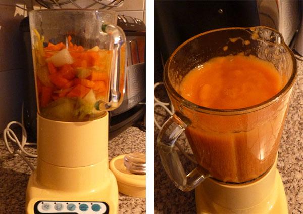Soupe Aux L Gumes Avec Cocotte Et Blender Pour Un Velout