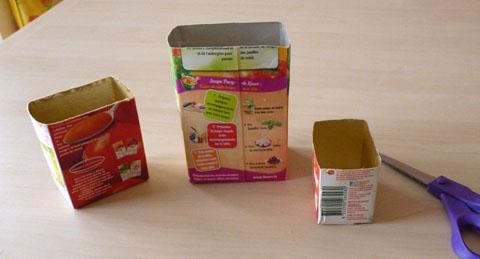 Bricolage rangement crayons des pots d co avec le - Objet en carton facile a faire ...
