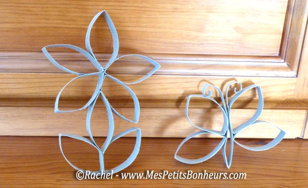 Bricolage avec des rouleaux de papier toilette lapin et papillon - Fleur papier toilette ...