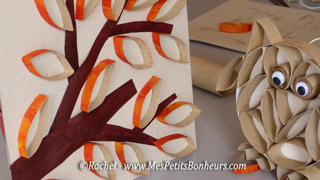 Automne bricolage simple et l ger branche et feuilles - Bricolage bougie en carton ...