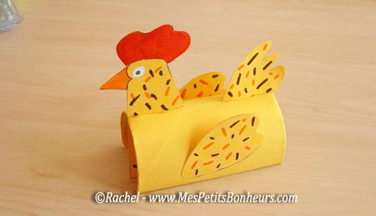 Poule de p ques d coupage imprimer pour un bricolage facile et rigolo - Bricolage paques facile ...