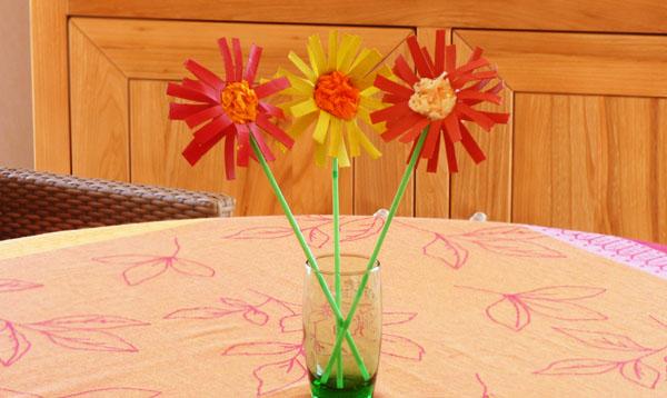 Super Bricolage – Fleurs en rouleau de carton (papier toilette) WD77