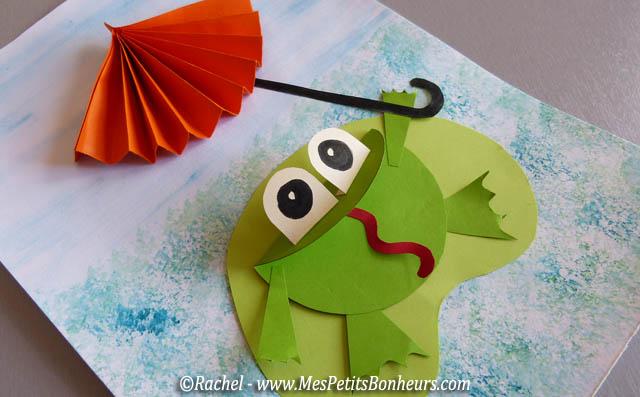 Bricolage grenouille et parapluie d coupage collage pour - Decoupage collage a imprimer ...
