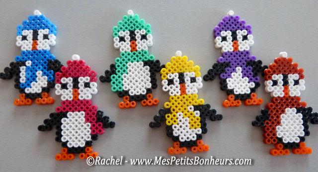 bricolage hiver perles hama les pingouins