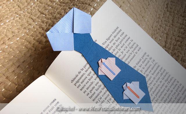 Bricolage fête des pères: marque page cravate à imprimer - découpage pliage