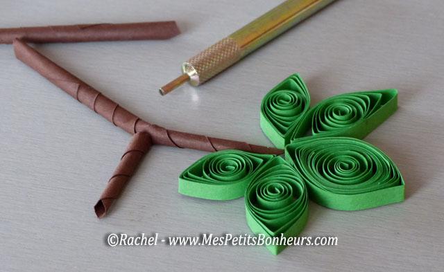 Bricolage sur le th me du raisin grappes en papier roul tableau d automne en quilling - Bricolage avec du papier ...
