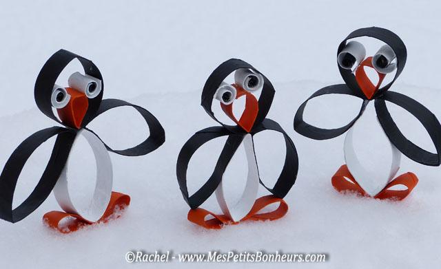 Fabuleux Bricolage pingouins en recyclage de rouleaux sopalin ou WC – rigolo ! EF63