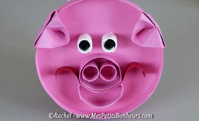 Bricolage cochon en carton activit manuelle avec des - Activite manuelle recyclage ...